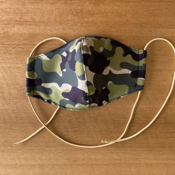 Green Camo Mask – Adult (3 Layer)
