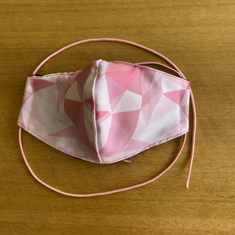 Pink Geometric Mask – Female (3 Layer)