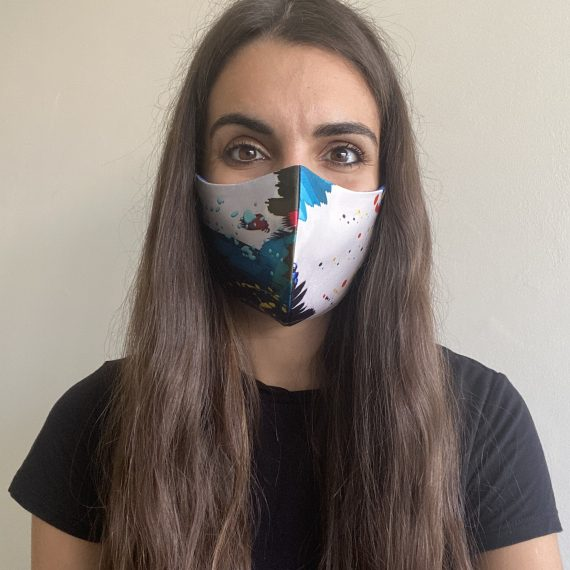 Royal Brushstroke Mask – Female (3 Layer)