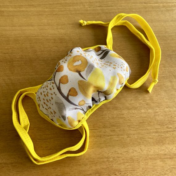 Yellow Tropical Mask – Female (3 Layer)