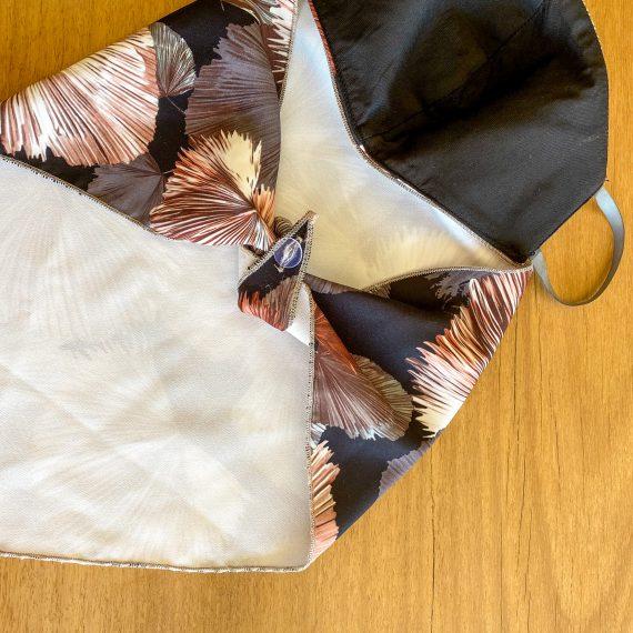 Black & Tan Scarf Mask – (3 Layer)
