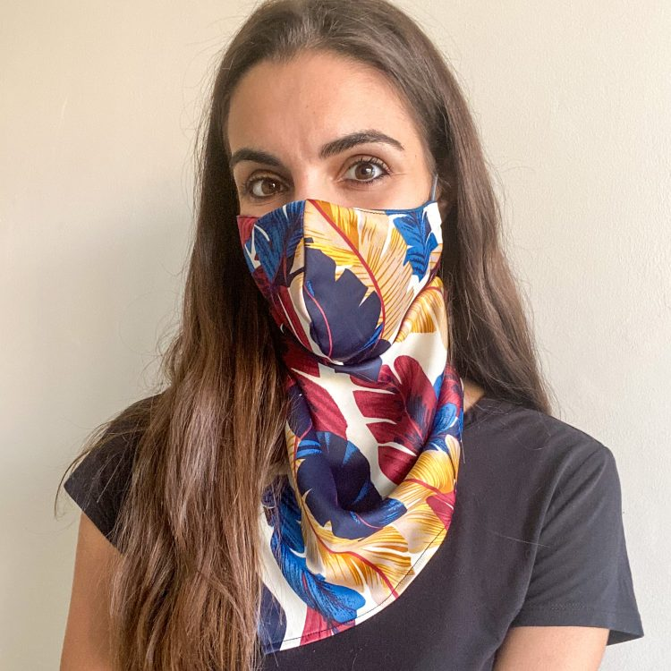 Feather Scarf Mask – (3 Layer)