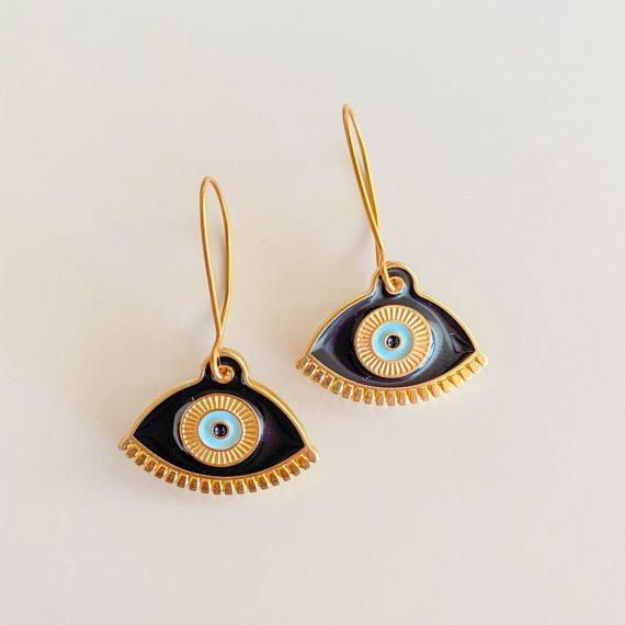 Black Mati Earrings