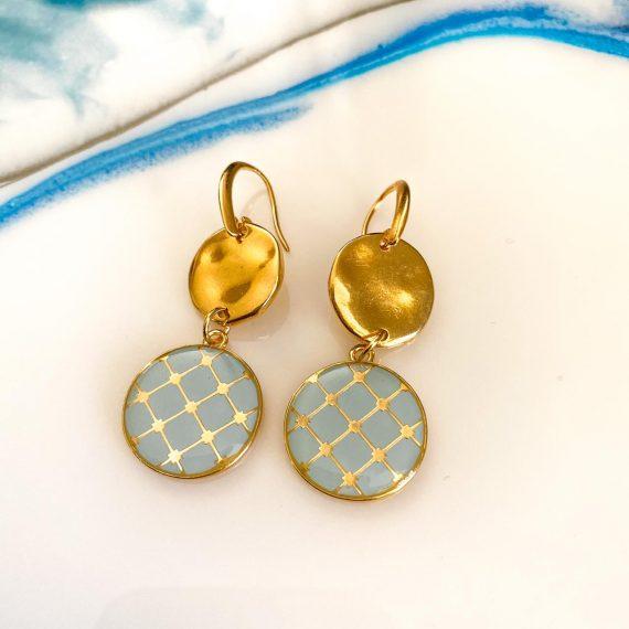 Blue Tile Earrings