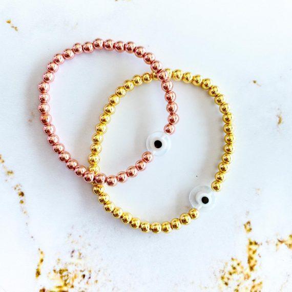 Clear Evil Eye Bracelets