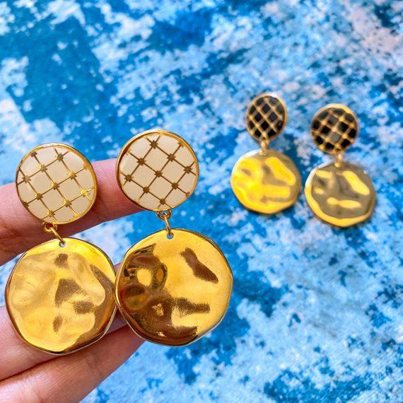 Tile Earrings 2 Tier