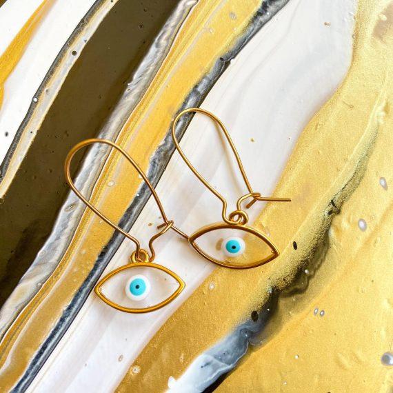 Transparent Mati Earrings