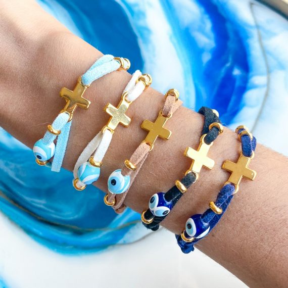 Everyday Cross & Mati Bracelet