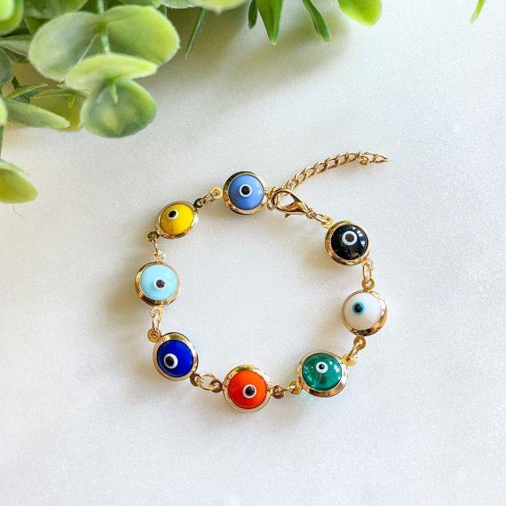 Glass Matia Bracelet – Colourful