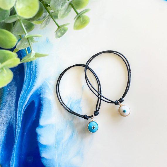 Hanging Mati Bracelet – Black