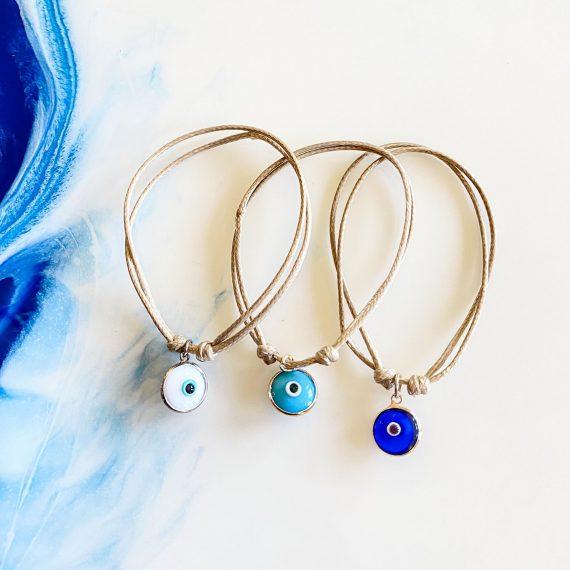 Hanging Mati Bracelet – Tan