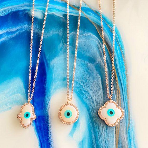 Pearl Diamante Necklaces