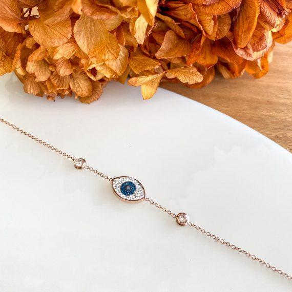 Rose Gold Eye Bracelet