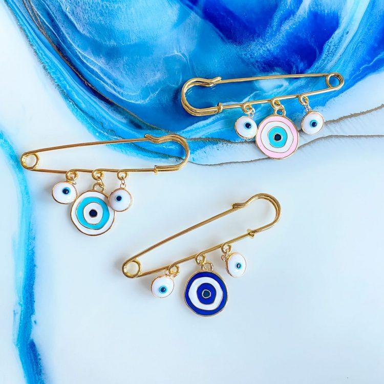 Pram Pin – Colourful Eye
