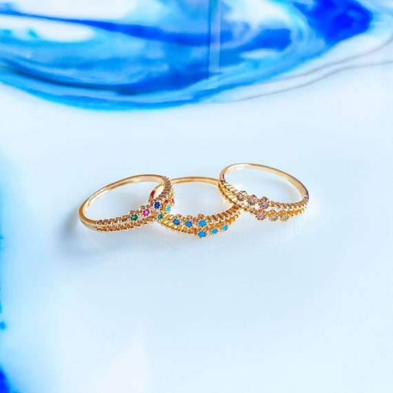 Double Band Gold Ring