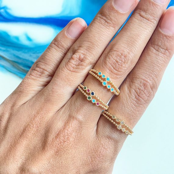 Double Stack Ring – Gold