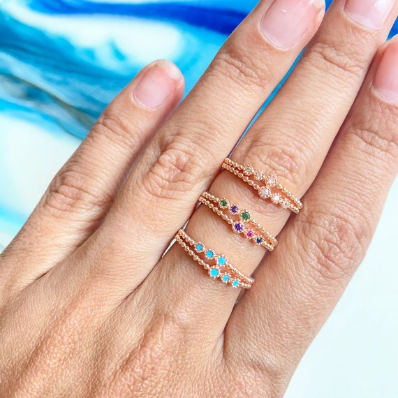 Double Band Rose Gold Ring