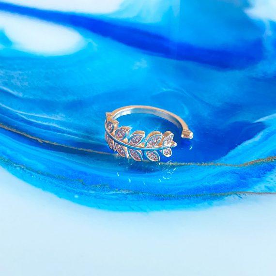 Greek Leaf Ring