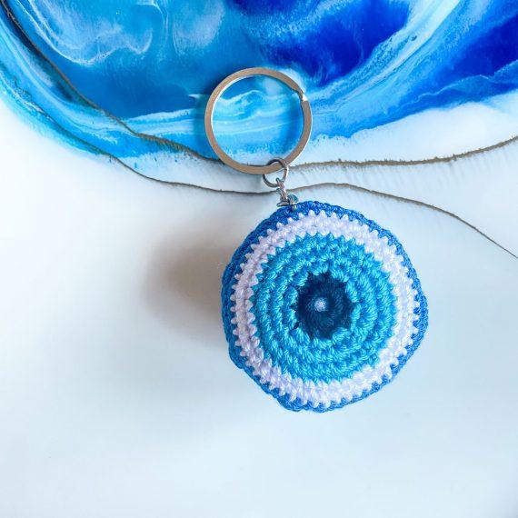 Macrame Evil Eye Keyring 2